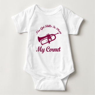 cornet musical designs baby bodysuit