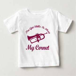 cornet musical designs baby T-Shirt
