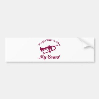 cornet musical designs bumper sticker