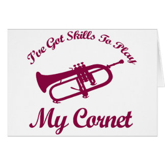 cornet musical designs card