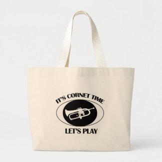 Cornet Musical designs Large Tote Bag