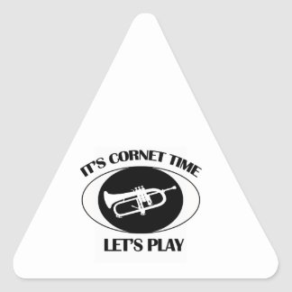 Cornet Musical designs Triangle Sticker
