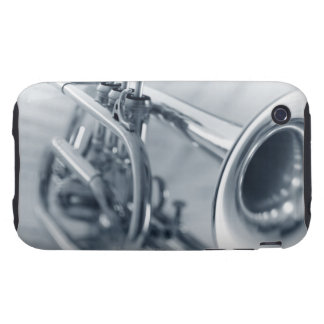 Cornet on Music Sheets Tough iPhone 3 Cover