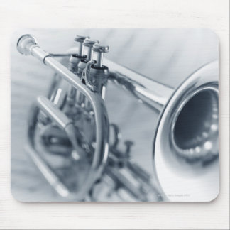 Cornet on Music Sheets Mouse Pad