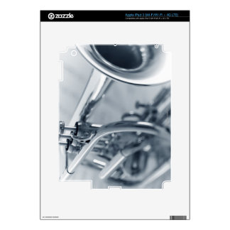 Cornet on Music Sheets Skin For iPad 3