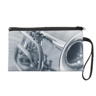 Cornet on Music Sheets Wristlet Purse