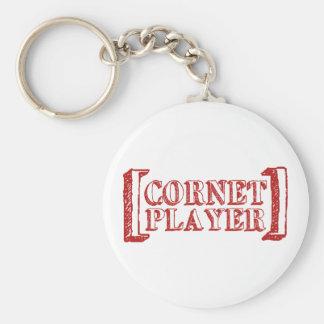 Cornet Player Keychain