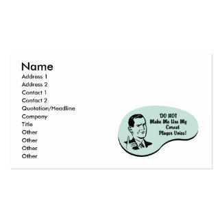 Cornet Player Voice Business Card