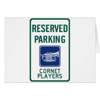 Cornet Players Parking Card