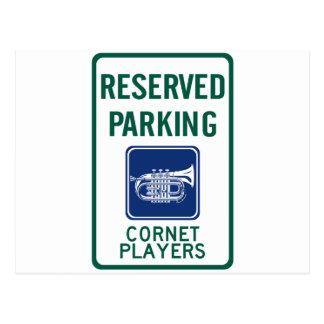 Cornet Players Parking Postcard