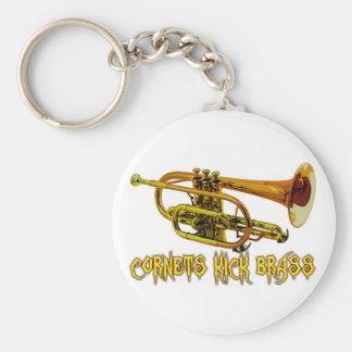 Cornets Kick Brass Keychain