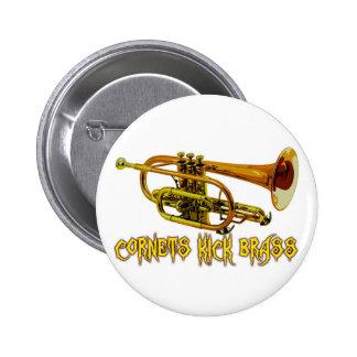 Cornets Kick Brass Pinback Button