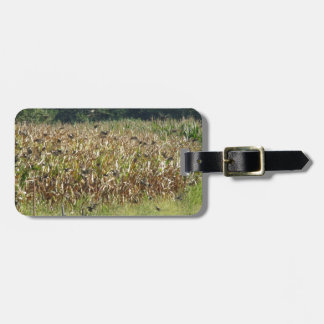 Cornfield and common starlings luggage tag