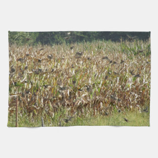 Cornfield and common starlings towel