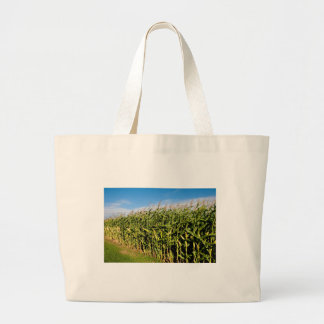 cornfield and sky tote bags