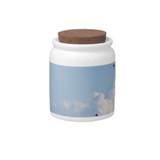 Cornfield and swallows candy jars