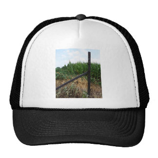 Cornfield Behind The Fence Trucker Hats