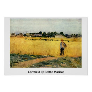 Cornfield By Berthe Morisot Posters