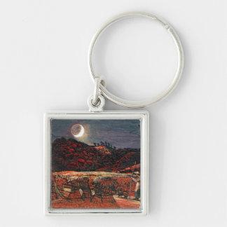 Cornfield by Moonlight, 1830 Keychain