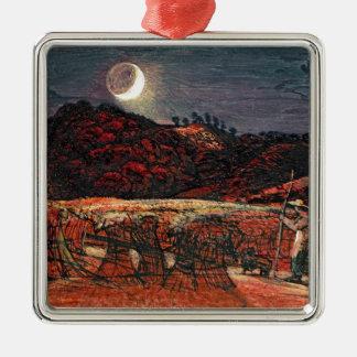 Cornfield by Moonlight, 1830 Metal Ornament