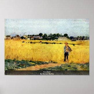 Cornfield By Morisot Berthe Print