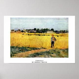 Cornfield By Morisot Berthe Posters