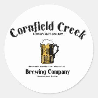 Cornfield Creek Brewing Co. Legendary Since 1659! Classic Round Sticker