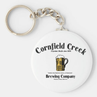 Cornfield Creek Brewing Co. Legendary Since 1659! Keychain