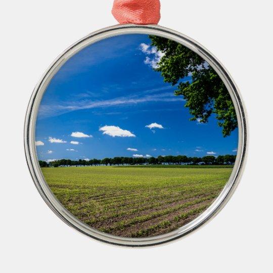Cornfield in the sun metal ornament
