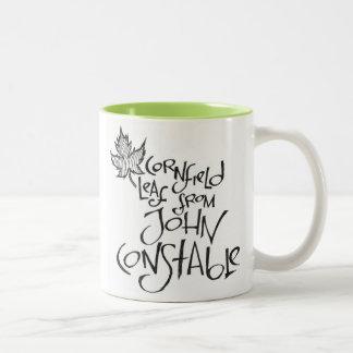 Cornfield Leaf From John Constable Two-Tone Coffee Mug