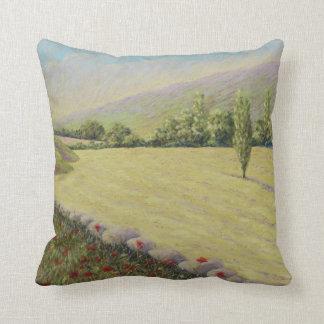 Cornfield near Eymet, Dordogne Polyester Cushion Throw Pillow