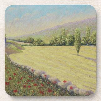 Cornfield & Poppies, Dordogne, France Coasters
