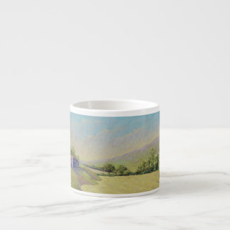 Cornfield & Poppies Dordogne, France Espresso Mug