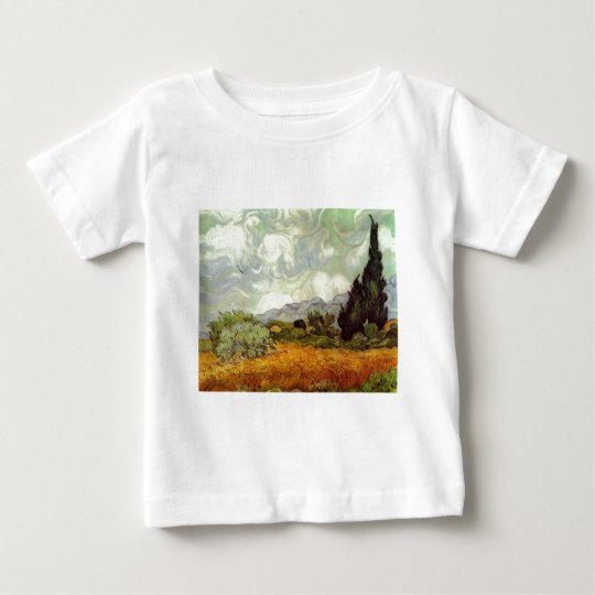Cornfield With Cypress Trees Baby T-Shirt