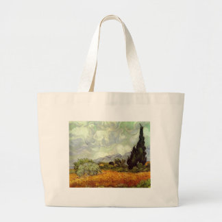 Cornfield With Cypress Trees Bag