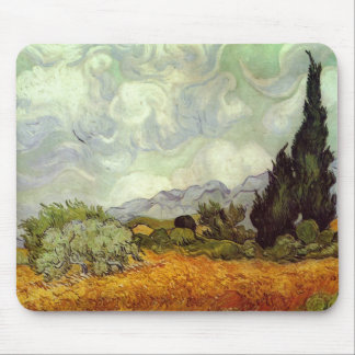 Cornfield With Cypress Trees Mouse Pad