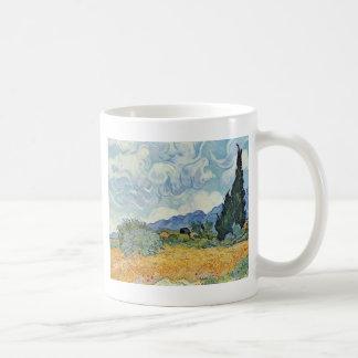 Cornfield With Cypresses By Vincent Van Gogh Mug