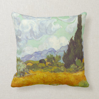 Cornfield With Cypresses Pillows