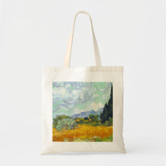 Cornfield with Cyprusses by Vincent van Gogh Tote Bags