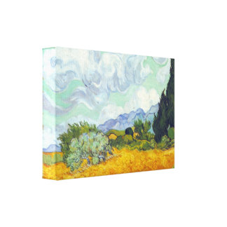 Cornfield with Cyprusses by Vincent van Gogh Canvas Print