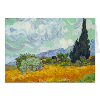 Cornfield with Cyprusses by Vincent van Gogh Card