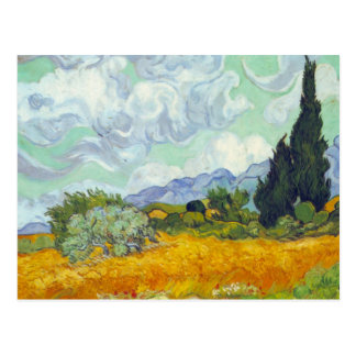 Cornfield with Cyprusses by Vincent van Gogh Postcard