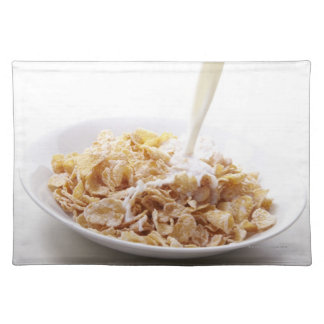 Cornflakes and milk cloth placemat
