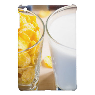 Cornflakes and milk for breakfast iPad mini case