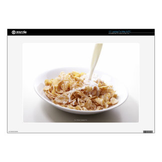 Cornflakes and milk laptop decal