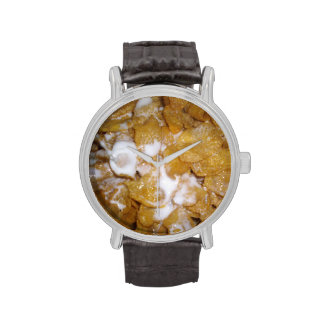 Cornflakes_And_Milk,_Leather_Vintage_Wrist_Watch Watch