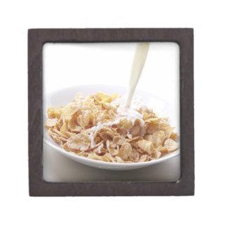 Cornflakes and milk premium trinket box
