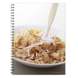 Cornflakes and milk spiral notebook