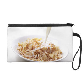 Cornflakes and milk wristlet purse