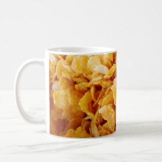 Cornflakes on 325ml white mug. coffee mug